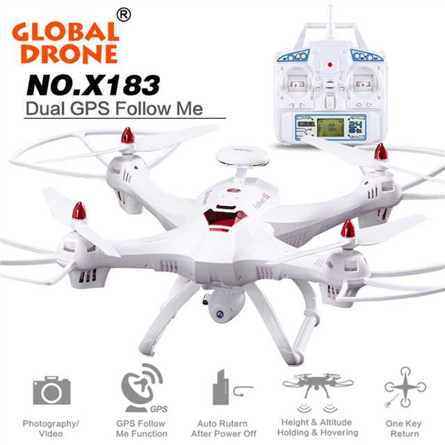 L107 Dual <font><b>GPS</b></font> <font><b>Follow</b></font> Me phoota WIFI FPV RC <font><b>Drone</b></font> Helicopter 400M 1080P Wide angle camera <font><b>GPS</b></font> position quadcopter vs <font><b>X183</b></font> image