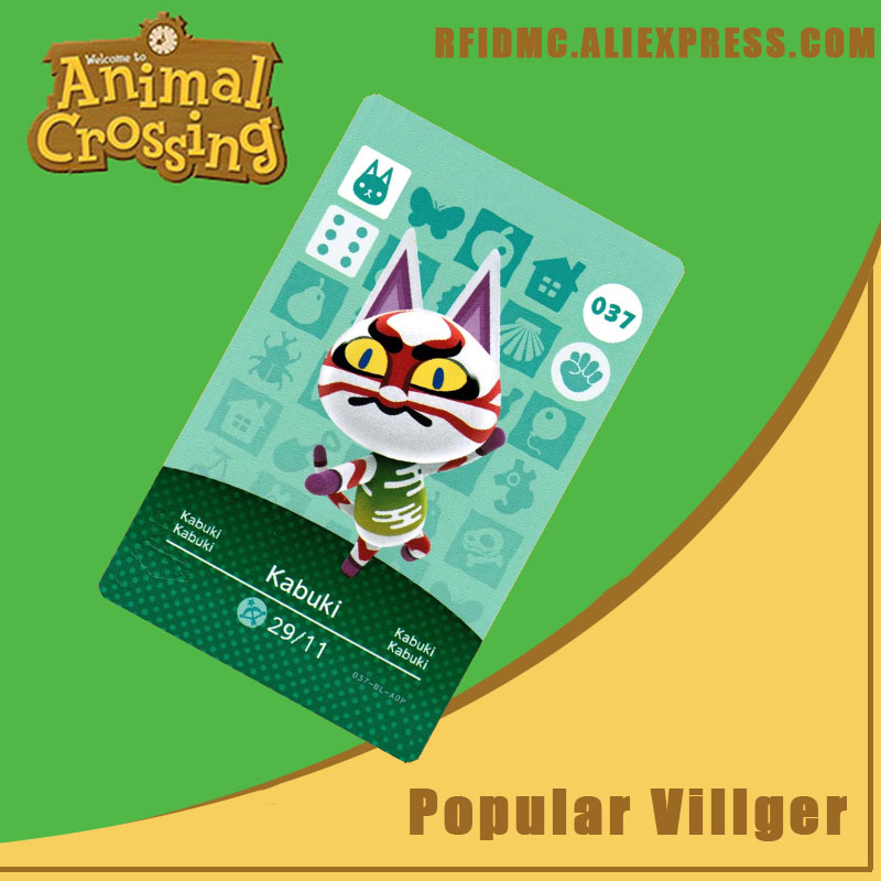 037 Kabuki Animal Crossing Card Amiibo For New Horizons