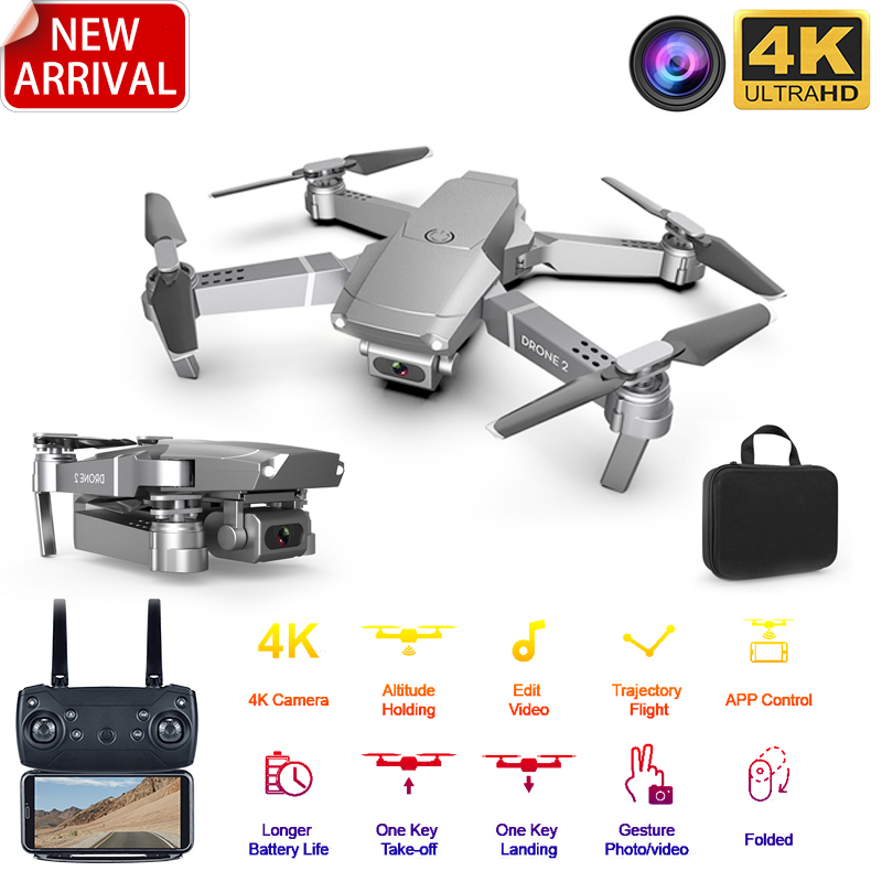2020 New E68 WIFI FPV Mini Drone With Wide Angle HD 4K 1080P Camera Hight Hold Mode RC Foldable Quadcopter Dron Gift image