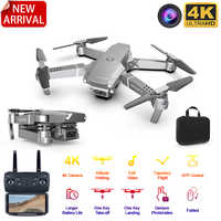 2020 novo e68 wifi fpv mini zangão com grande angular hd 4 k 1080 p câmera de altura modo espera rc dobrável quadcopter dron presente