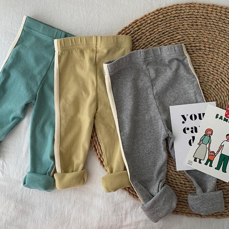 New Cotton Infant Baby Pantyhose Newborn Baby Pants High Waist Toddler Leggings Baby Boys Girls Leisure Pants