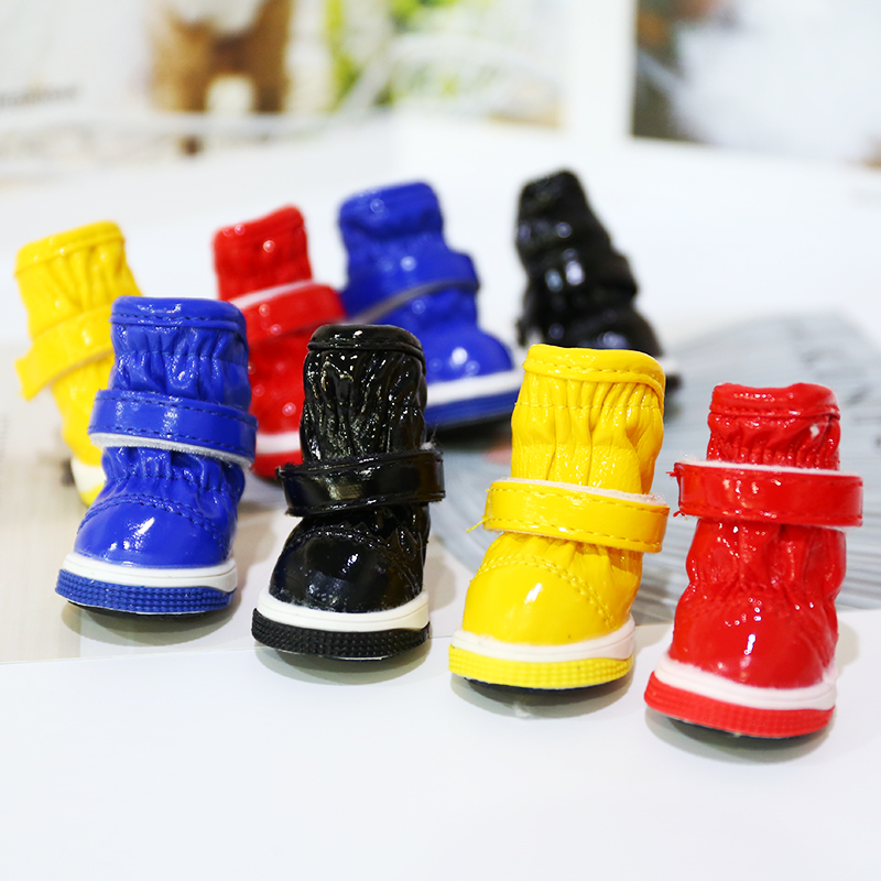 Waterproof Snow Boots Pet Shoes For Dogs Winter Warm Little Small Animals Puppy Foot Wear 4pcs/set Cat Outdoor Non Slip Products image