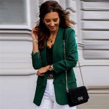 Solid Color Women Blazers 2020 Formal Lady Office Work Suit