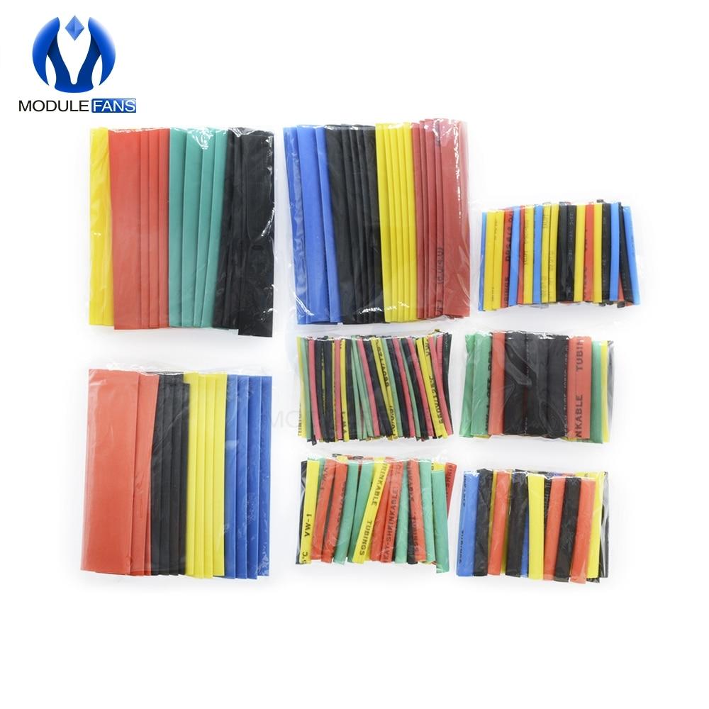 164PCS 328Pcs 530PCS Car Electrical Cable Tube kits Heat Shrink Tube Tubing Wrap Sleeve Assorted 8 Sizes Mixed Color