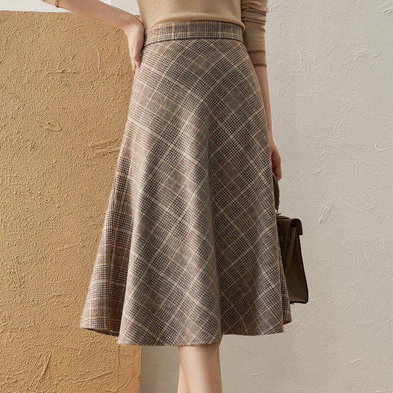 Plus Size 5XL Celmia Womens Maxi Skirts Casual High Waist