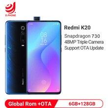 """دعم OTA تحديث Rom العالمي شاومي Redmi K20 6GB 128GB سنابدراجون 730 ثماني النواة 4000mAh 48 mp كاميرا AMOLED 6.39 """"الهاتف الذكي"""