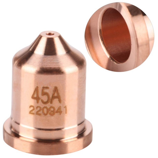 AIC 10PCS 220941 Plasma Electrodes 2PCS 220948 Plasma Tips Fit Hypertherm Powermax 45//65//85//105
