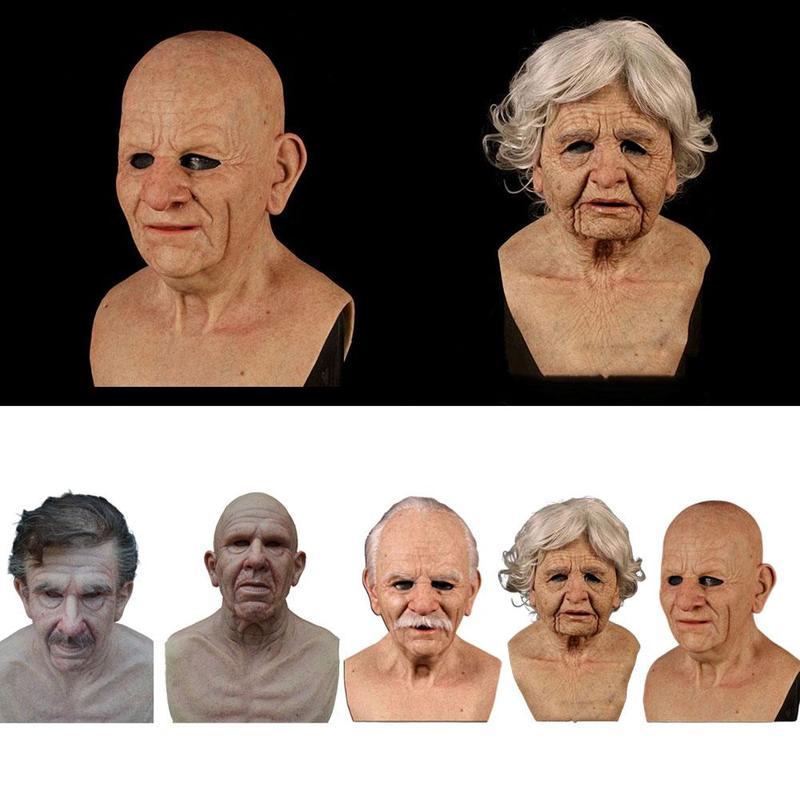 Masques de Cosplay pour hommes effrayants pour Halloween, masques de casque en Latex, tête complète