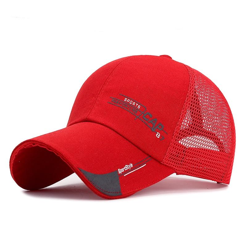 Summer Baseball Caps Men Letter Mesh Caps Women Men Breathable Unisex Dropshipping Snapback Hat Outdoor Hip-Hop Bone Gorras Cap
