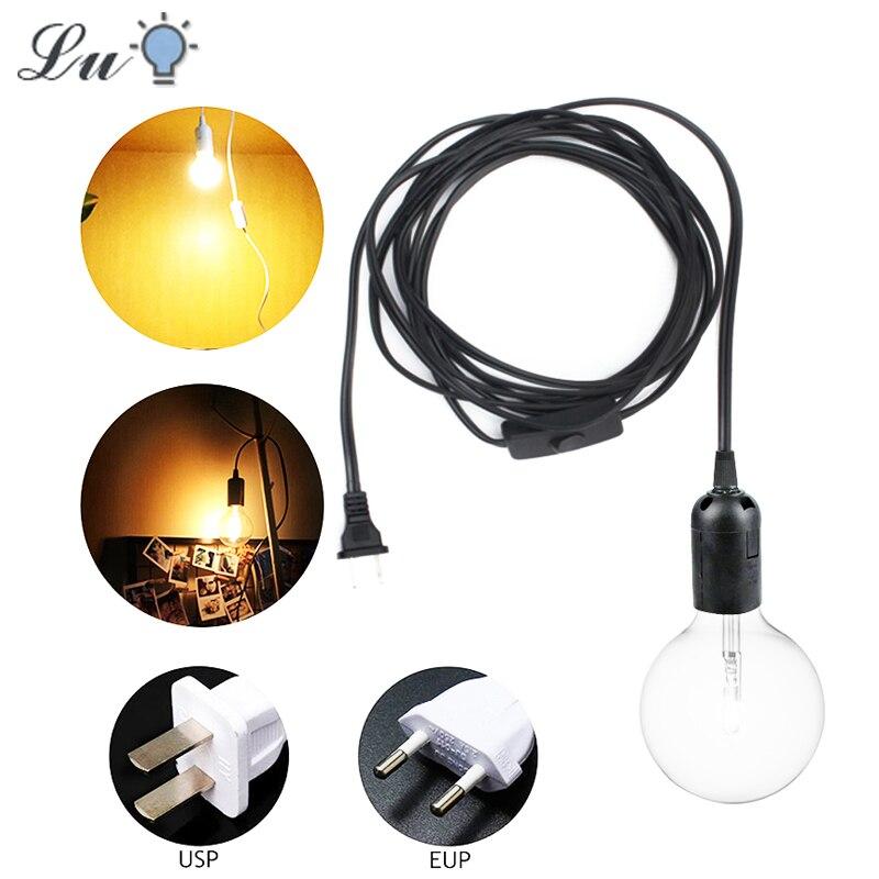 Pendant Lights E27 E26Hanging Lamp Holder 1.8M EU US Plug With Switch LED Nordic For Home Kitchen Light Restaurant Loft Lighting