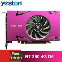 Yeston R7 350 4G D5 Grafikkarte 6 COMPUTER-TV-ANSCHLUSSKABEL MINIDP 6-bildschirm Unterstützung Split Screen Display 700/4500MHz 4G/128bit/GDDR5 mit 6 Mini DP Ports