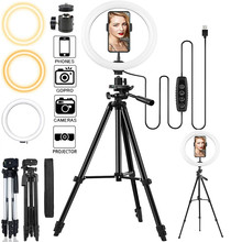 Selfie LED Ring Fill Light USB Dimmable Photography Lighting With Tripod Rim Of Light For Makeup Live Video Streaming Ring Lamp
