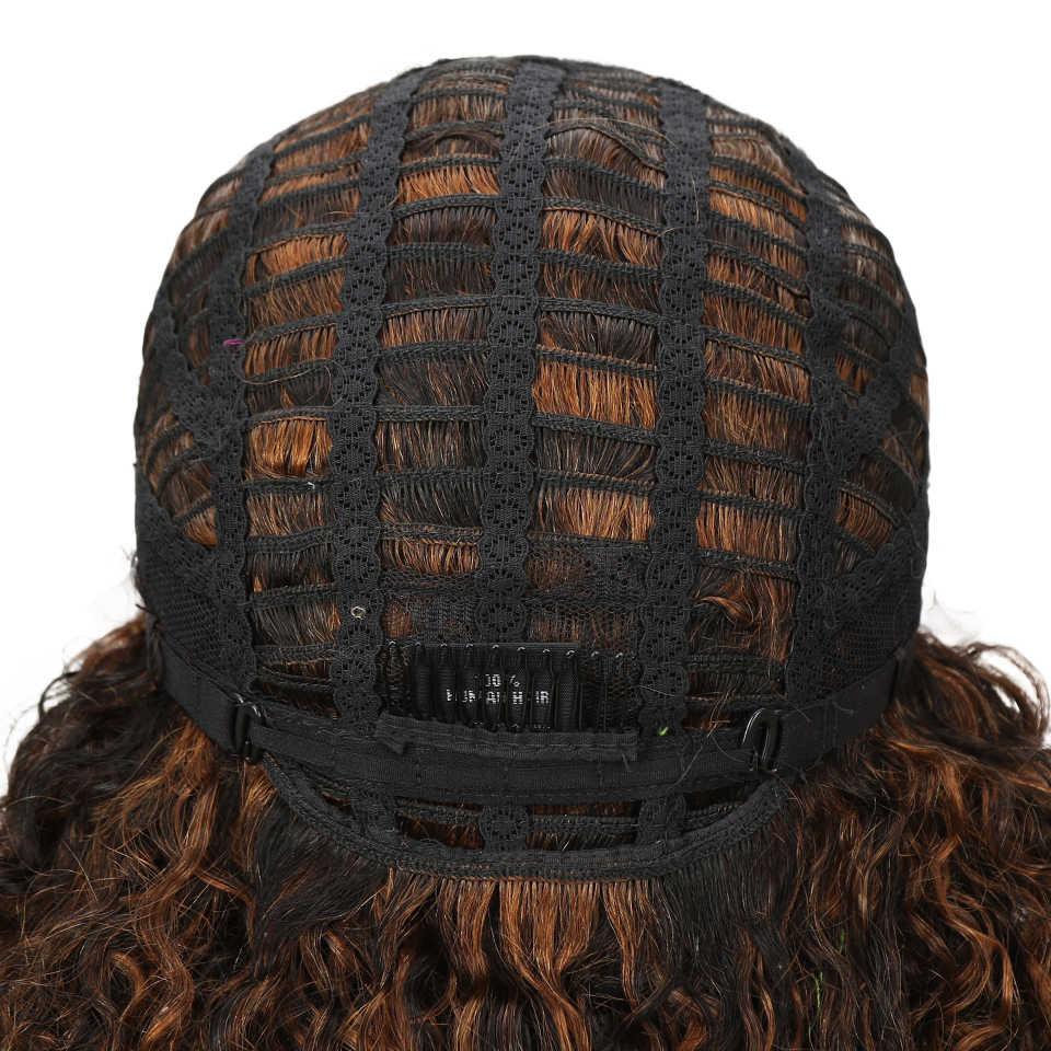 Гладкий парик из натуральных волос на кружеве для черных женщин, бразильский кудрявый парик из натуральных волос с эффектом омбре, влажный и волнистый парик из натуральных волос