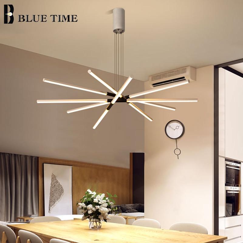 Modern Home Chandeliers  LED Lamps For Living Room Dining Room Bedroom Kitchen Lustre Handing Chandelier Lighting AC90v-260v