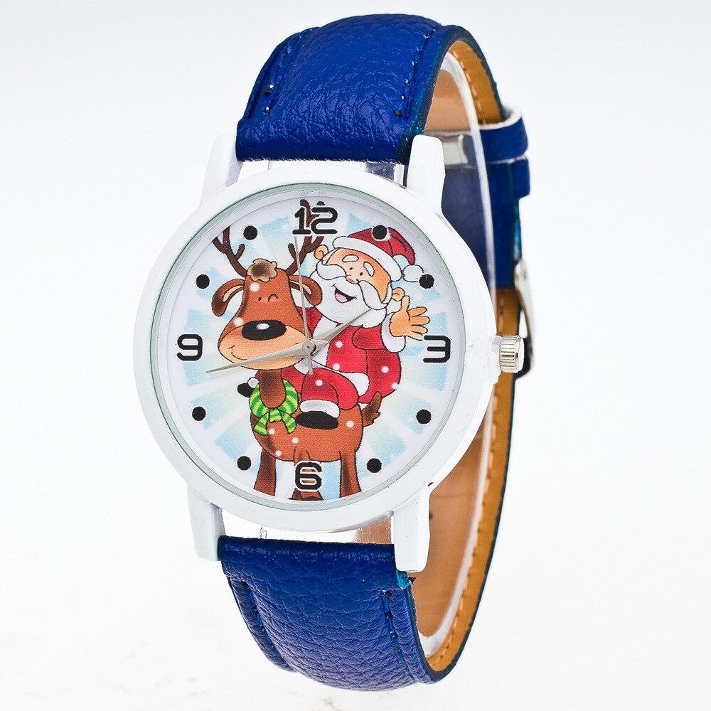 Women's Watches Watch Reloj Mujer Clock Relogio Feminino Christmas Pattern Quartz Watch Leather Strap Belt Table Watch Wholesale