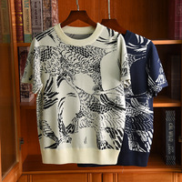 2020 Spring summer Women's brand nw high quality Knit T shirt France style vintage elegant Tee tops B994