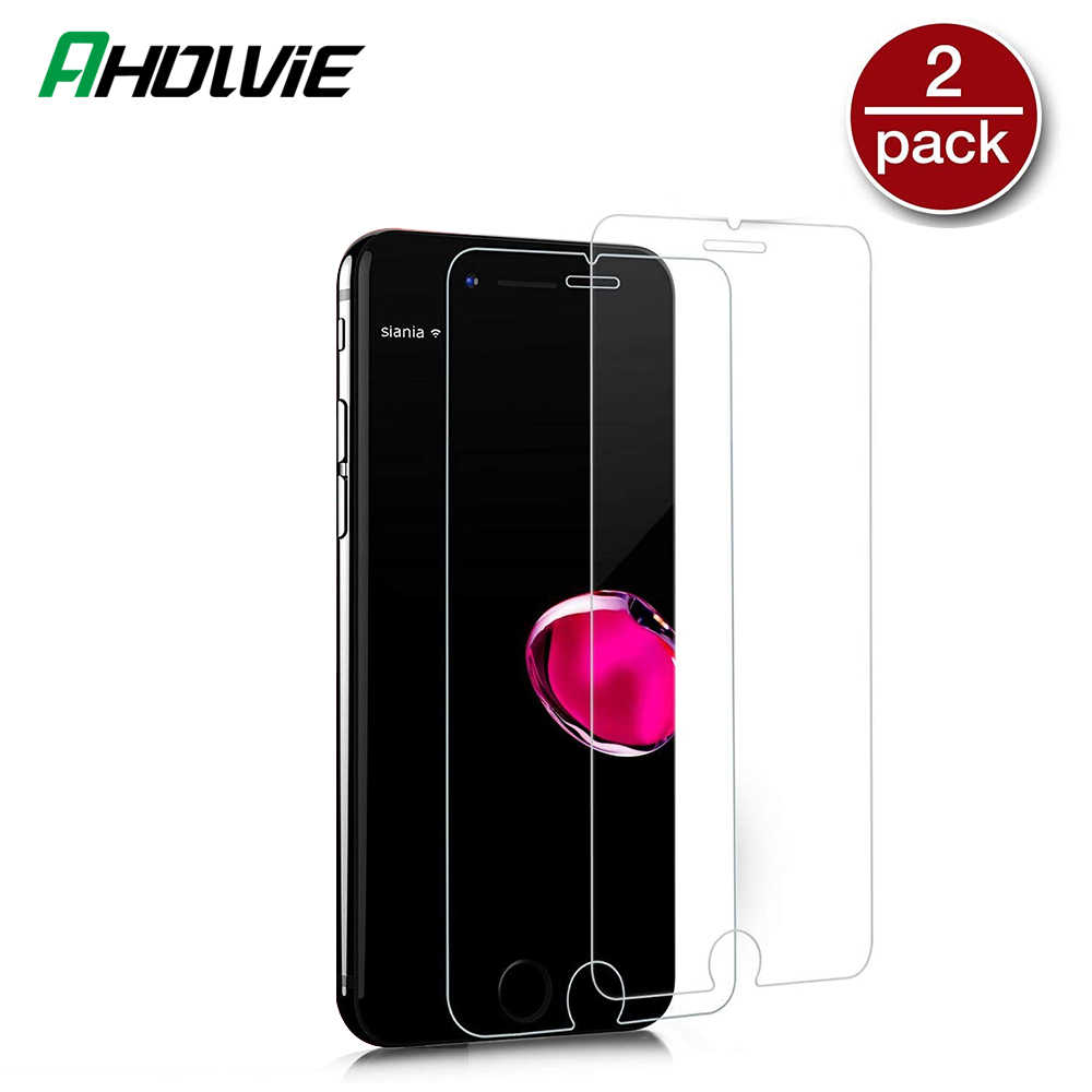 2PCS Screen Protector กระจกนิรภัยสำหรับ iPhone 6S 5S 11 Pro 5 5C XR X XS MAX toughened GLAS สำหรับ iPhone 7 8 6 6S PLUS Flim Glass