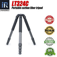INNOREL LT324C Professional Carbon Tripod Sports Video Cameras Flexible Selfie Photo 1.5M Tripod Stand for Mobile or Others
