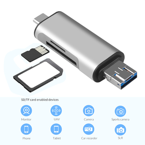 KEBIDU 5-in-1 Type C OTG Card Reader With USB Female Interface For PC USB 2.0 Read TF Memory Card Reader Adapter Computer