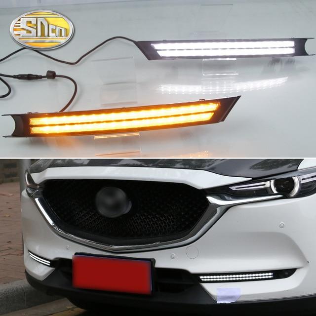 For Mazda CX 5 CX5 2017 2018 2019 Dynamic Turn Signal Relay Waterproof Car DRL 12V LED Daytime Running Light Fog Lamp Decoration