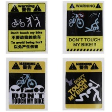 OOTDTY 1 Pc Bicycle Sticker Cycling Reflective Safety 4 Type MTB Fixed Gear Frame Decoration