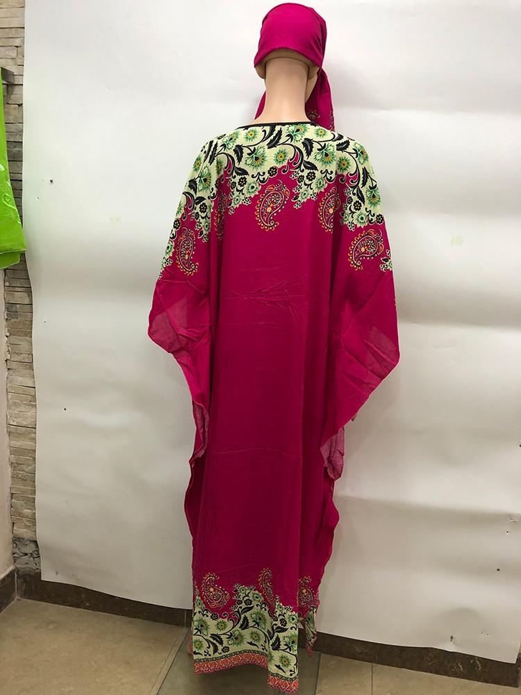 NEW Fashion Africa style Europe abaya With Scarf Long Dashiki Printing Dress Kalama Loose And Comfortable Muslim Robe For Lady