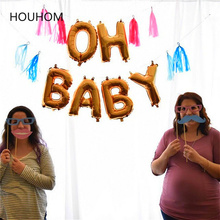 Baby Shower It's A Boy Girl Banner Oh Baby Balloons Gender Reveal Birthday Party Decorations Kids BabyShower Event Party Gifts