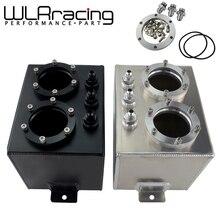 WLR RACING-3L двойная Заготовка алюминиевый топливный бак/бак перенапряжения без 044 топливный насос серебристый или черный WLR-TK84