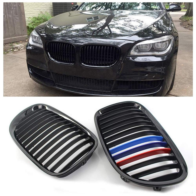 Front M Color Gloss Black Kidney Sport Hood Grill Grille for Bmw F01 F02 7 Series 730D 740I 750I 2009 2015|Racing Grills|   - title=