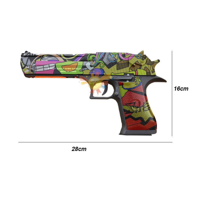RX 617 Desert Eagle Gel Balls Blaster Water Toy Gun Auto Mag-fed Material Nylon Electric