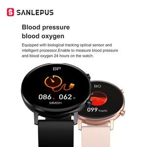 Image 4 - SANLEPUS ساعة ذكية للرجال والنساء ، سوار رياضي مع مراقبة ضغط الدم والأكسجين في الدم لأجهزة Apple و Android ، جديد لعام 2021