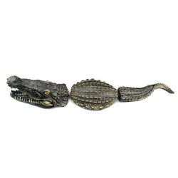 3 sztuk/zestaw sztuczne wysokiej jakości pływający żywica krokodyle do stawu basen wody dekoracje ogrodowe ozdoby LBShipping