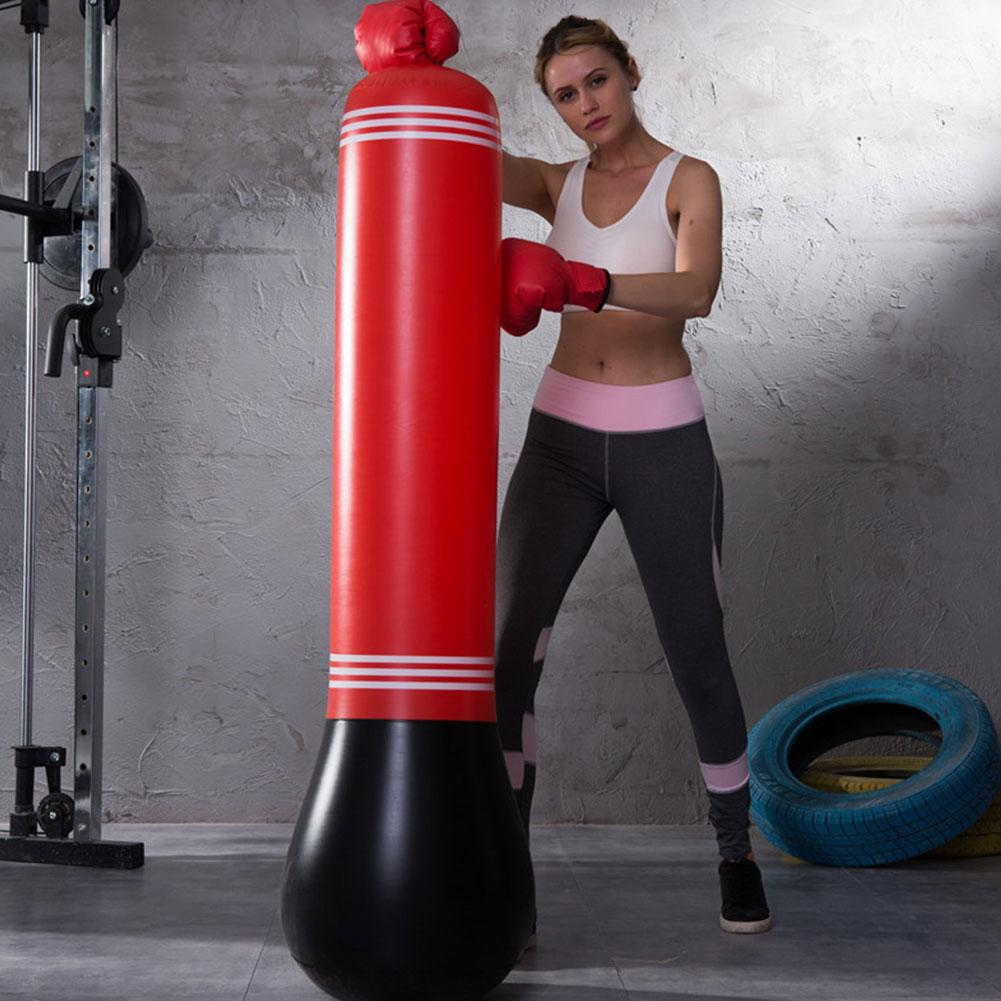 1.5M Free-Standing Punching Bag Inflatable Sports Fitness Tumbler Boxing Column