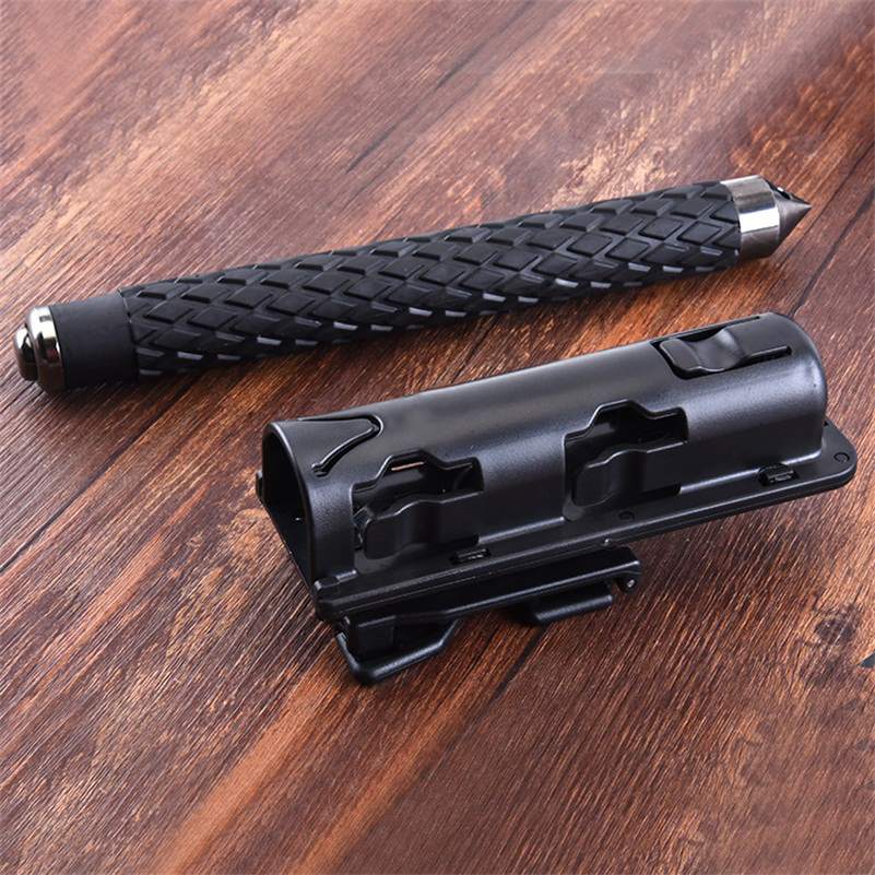 360 Degree Rotation Universal Baton Holder Extensible Black Baton Holder Case Pouch For Outdoor Police Baton Telescopic Self Def