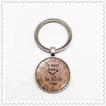Retro clock pattern keychain convex round pendant classic fashion men and women keychain gift jewelry