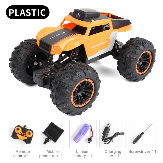 Newest 2.4G WIFI FPV RC Car With 2MP HD Camera Remote Control Crawl Off Road RC Racing Car with 3pcs car battery phone control 6