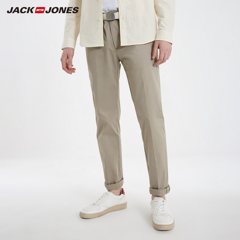 JackJones Men's Cotton Stretch Basic Casual Pants Business Trousers Menswear 219114528