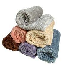 Шерстяное плюшевое одеяло для домашних собак, двойной толстый коврик для питомника, кошачий щенок, зимнее теплое одеяло для сна для домашних собак и котов