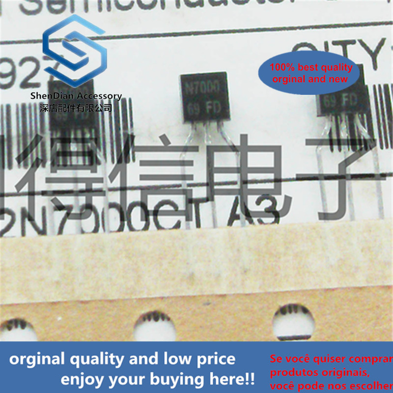 30pcs 100% Orginal New TSM2N7000 2N7000  To-92 60V N-Channel Enhancement Mode MOSFET Real Photo