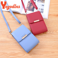 Yogodlns Koreaanse Multifunctionele Crossbody Tas Vrouwen Mini Pu Lederen Schoudertas Mobiele Telefoon Portemonnee Mode Kleine Messenger Bag
