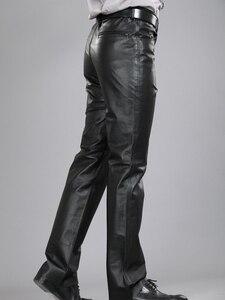 Image 4 - 2020男性本革パンツプラスサイズストレートパンツ男性パンツメンズ正規全身パンツ7XL