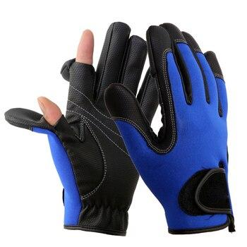 ネオプレン釣り手袋 2 スリットフル指撮影ハイキングジギング防水冬の手袋 THJ99