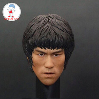 1/6 Bruce Lee Head Sculpt Game of Death Kung fu star Head For Collection DIY Action Figures