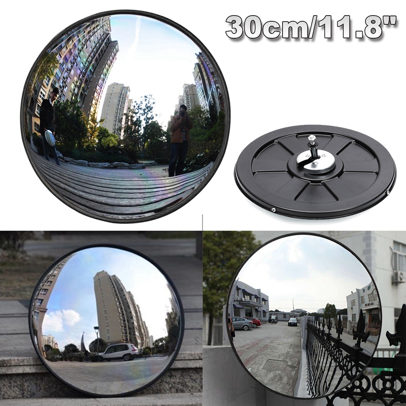 30Cm Wide Angle Security Road Mirror Curved For Indoor Burglar Outdoor Safurance Roadway Safety Traffic Signal Convex Mirror