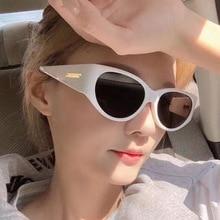 Женщины% 27 Солнцезащитные очки 2021 Тенденции Винтаж Американский Стиль Кошка% 27 глаза Круглые Очки Мода Роскошь Дизайнер Солнце очки Вождение UV400