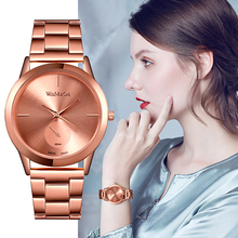 цена на Womage Luxury Women Watches Women Rose Gold Watches Stainless Steel Quartz Watch Ladies Watches montre femme reloj mujer hodinky