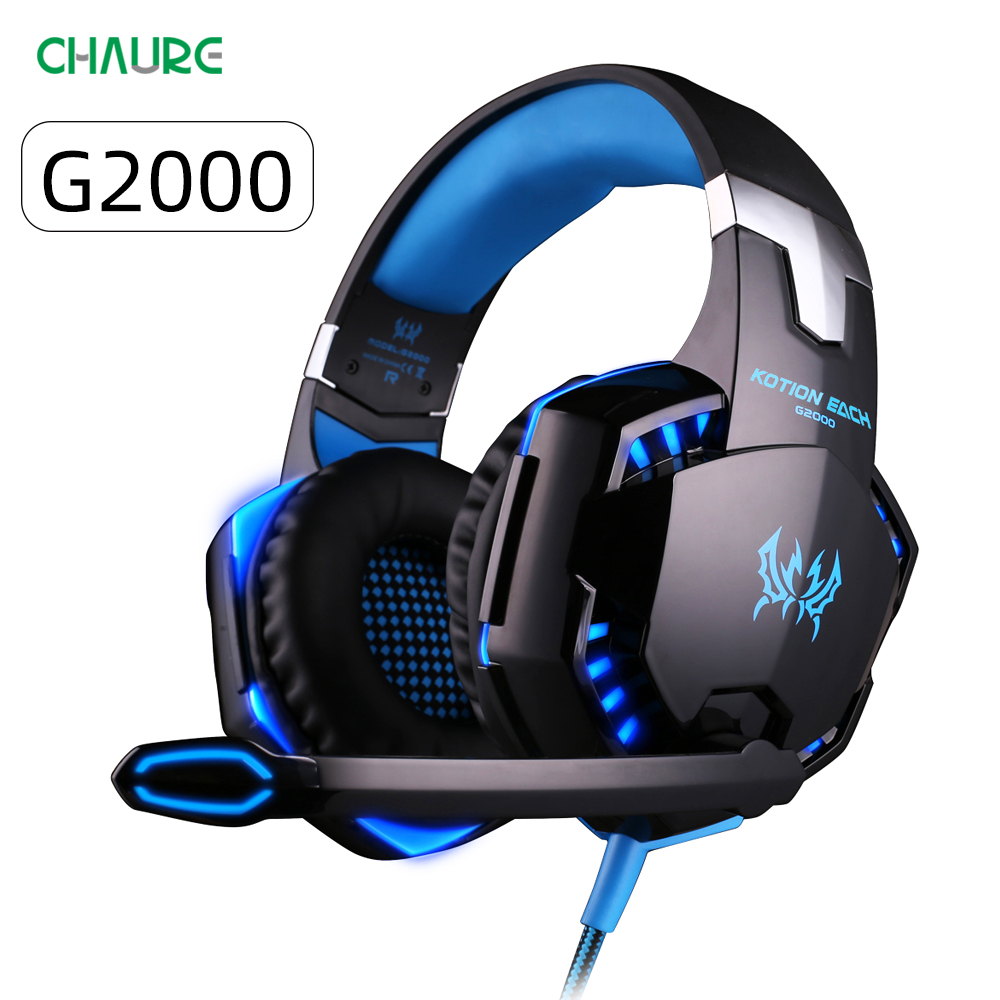 CHAURE Headset Over-ear Game Earphones Wired Gaming Headset Microphone Deep Bass Stereo Headphones For PS4 PC New X-BOX Gamer