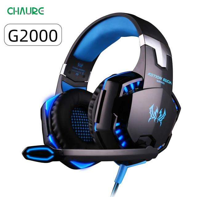 سماعة Gamer الإفراط في الأذن سماعة رأس سلكية للكمبيوتر PS4 جديد X BOX لعبة الكمبيوتر العميق باس ستيريو الألعاب سماعة رأس بمايكروفون LED