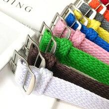 16mm 18mm 20mm 22mm alça de banda de lona de náilon otan zulu pulseira de tecido masculino feminino acessórios para correias perlon