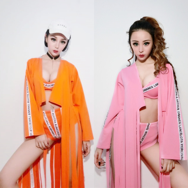 New Sexy DJ Stage Jazz Dance Costumes Nightclub Female Singer DS Costume Letter Suit Sexy Outfits For Woman Rave Outfit DQS2657